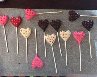 Heart Love Lollipops - Chocolate