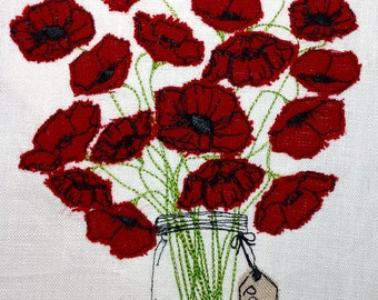 Raw Edge Applique Design 'Poppy Love'