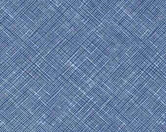 Architextures Crosshatch in Cadet, Carolyn Friedlander, Robert Kaufman Fabrics, 100% Cotton Fabric, AFR-13503-338 CADET