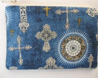 Handmade Rosary  Zip Pouch