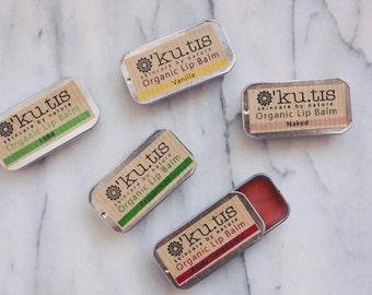 Organic Lip Balms - Slider Tins - Nourishing - Natural