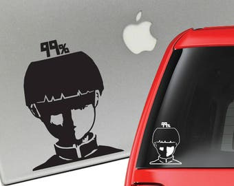 Mob Psycho 100 99% Vinyl Decal for Laptop or Car
