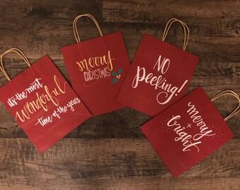 Christmas gift bags - SET OF 4