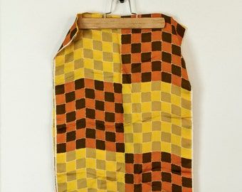 Vintage Check Pattern Yellow + Mustard color palette Scarf