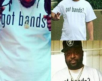 Got bands t shirt  streetwear hip hop shirt hip hop clothing street wear tops & tees urban clothing  mens shirt