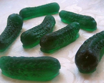 In A Pickle - Fun Food Gherkin Pickle Soap - Fake Food - Pickle Soap - Baby Shower - realistic fake food
