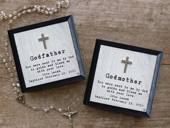 Godmother Gift Godparent Gift Personalized Gift For: Personalized Baptism Gift Set Godmother Gift Godfather Gift
