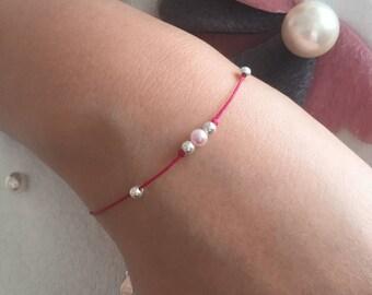 Akoya Pearl String Bracelet / Pearl Bracelet Gift / Adjustable Pearl Bracelet / Bridesmaid Gift / Birthday Gift / Friendship Bracelet