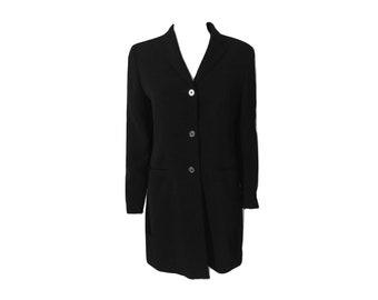 Vintage Ralph Lauren 80's Blazer, Boxy Blazer, Boy Friend Blazer, Black Blazer, 80's Oversized Blazer