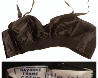 LeJaby Vintage Bullet Bra, Made in France, Deadstock, Perfecr Pinup Bullet Bra, 30/32 B