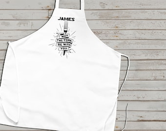 BBQ Apron,  Star Wars Fan apron, Customized Barbecue Apron, Fathers day gift, Gifts for Him, Cute Apron, grilling apron, summer trends