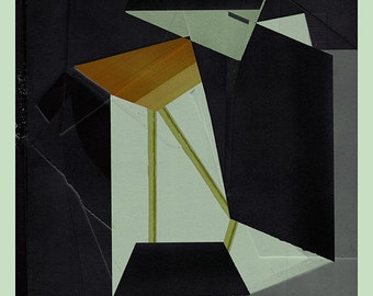 Abstract composition 840 - modern art - minimalism - 60 x 84 cm - A1 -  Limited edition (20)