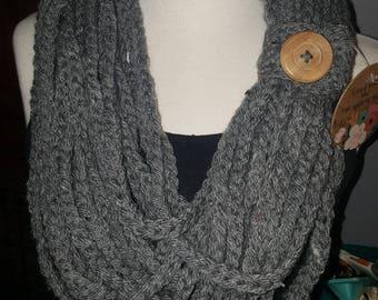 Boho braided infinity scarf