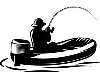 bass boat clip art etsy rh etsy com