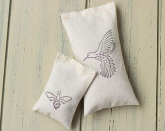 Lavender-Mint Bird + Bee Sachet set!