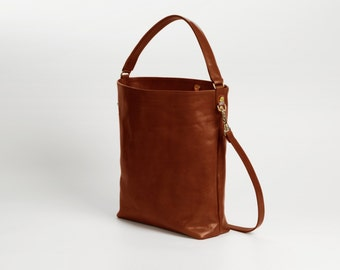 Molly Brown tote, Brown Leather Tote, Market bag, Leather tote, Medium bag, Messanger
