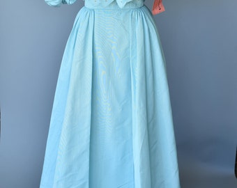 Fabulous 1980s Teal Couture Gown- NWT