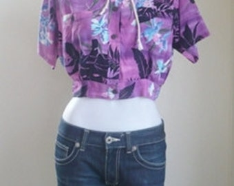 Orchid Purple Jumper Cropped Hoodie shirt (S/M)