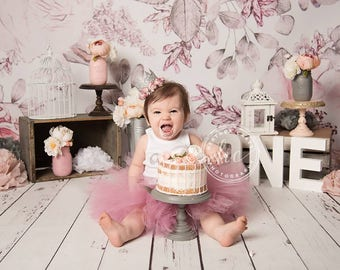 Blush Pink Baby Girl 1st Birthday Outfit | Baby Tutu | Tutu Dress | Birthday Dress | Baby Girls Cake Smash Outfits | Birthday Tutu