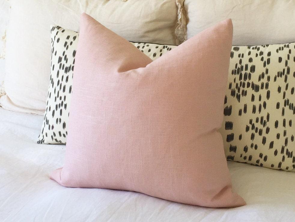 Blush Linen Pillow Cover Blush Pillow Rose Pillow Pink