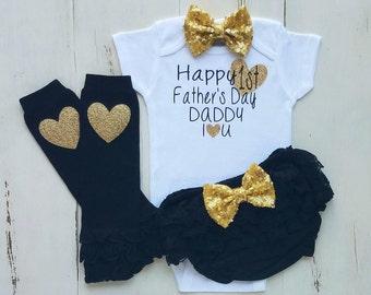 Fathers Day onesie, Happy Fathers Day onesie, Baby girl clothes, Onesie, Baby girl, Baby clothes, Baby, Baby girl onesie,Onesies,Baby onesie