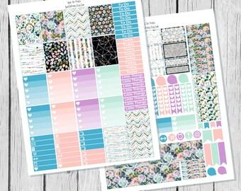 Spring Rose Planner Sticker Printable / Spring Planner Stickers / Printable Planner Stickers / Weekly Planner Sticker Kit/ Travel Stickers