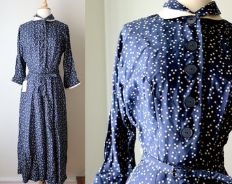 1950s L'Aiglon Polkadot Day Dress Deadstock NWT