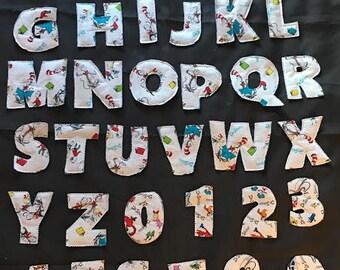 Dr Seuss Fabric Letter & Number Set