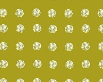 Lemmikki by Lotta Jansdotter for Windham Fabrics - 43086-2 - Lime Yellow - FQ - Fat Quarter - Cotton Quilt Fabric