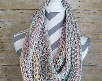 Crochet Infinity Scarf - Easter Inspired