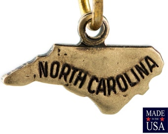 Brass Ox Tiny North Carolina State Charm Drops (2) chr204DD