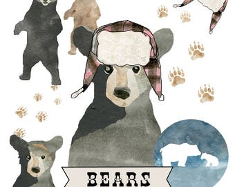 Bears Clip art Set