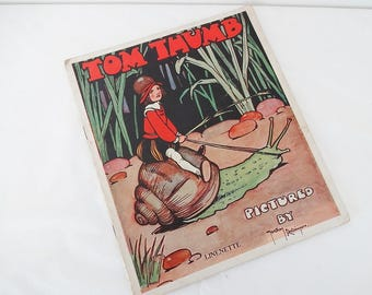 Children's Art Deco Illustrated Book: Tom Thumb