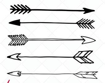 arrow svg, arrows DXF, Cutting Files, Clip art, printable arrows, design elements, tribal arrow svg