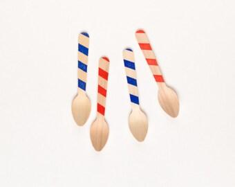 Patriotic -20 Wood Ice Cream Spoons