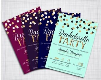 Bachelorette Party Einladung - anpassbare - DIY druckbare Datei
