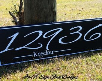 10x 36 Address Sign, Address Plaque, Address Yard Sign, Outdoor House Number Plaque, House Number Sign, Hanging Address Sign, House Numbers