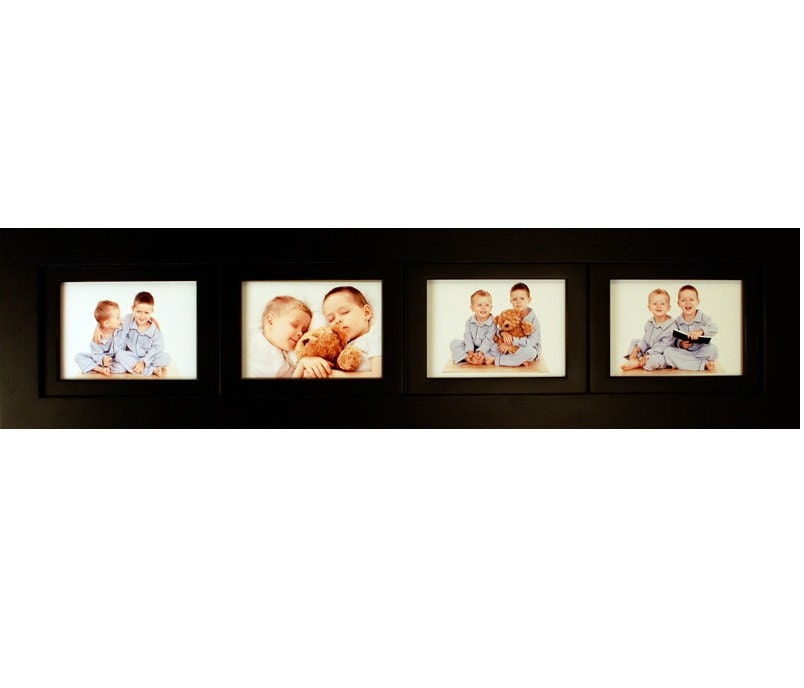 Four Opening Collage Picture Frame with Four Landscape Picture ...