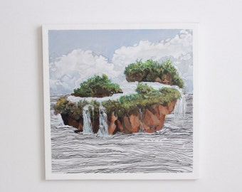Surreal Landscape Painting: watersource