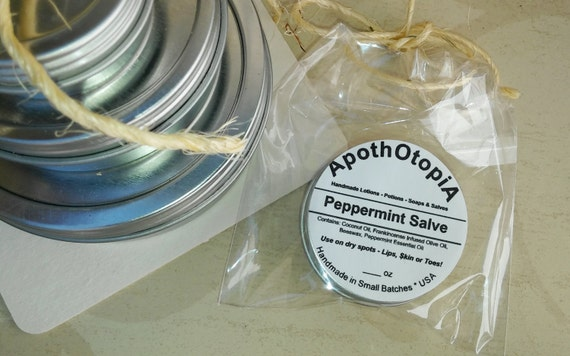 Eco Friendly, Sustainable Peppermint Oil Salve - Ointment - Balm, Old Fashioned & Organic, Linament, Gloss, Rub