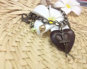 Handmade Antiqued Brass bracelet