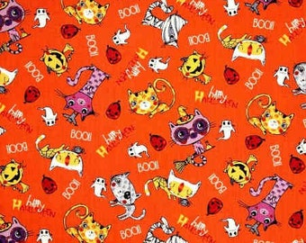 Trick or Treat - Scary Cats - Fabri-Quilt - 103-44500 - Halloween - Orange
