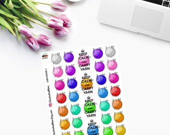 YARN / WOOL Planner Stickers CAM00008-1