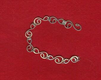 Silver Swirls Bracelet