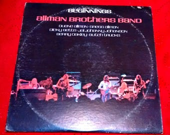 Allman Brothers Band Beginnings Vinyl, First Pressing 1973, Double LP, SD 2-805