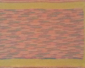 Pink and Yellow Car Seat Blanket
