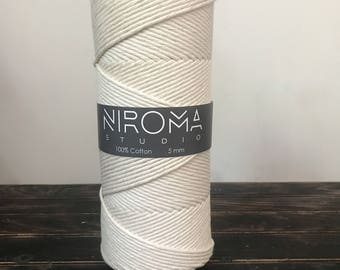 5mm Thick Cotton string, macrame string, bulk cord, macrame cord, craft string, macrame, cotton string, natural cotton