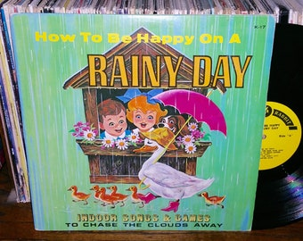 How To Be Happy On A Raint Day Vintage Vinyl Record