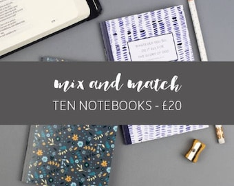 Ten notebooks for 20 pounds   Christian Stationery   Christmas gifts   Back to School Notebooks   Stocking Fillers   Christian Gift