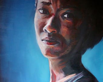Someday We'll All Be Free | Archival Print Portrait of Sasha Williams (Sonequa Martin-Green) from Walking Dead by Jess Kristen
